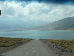 Arrivée sur la laguna Miscanti