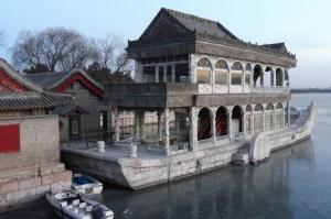 Le bateau de marbre où l'impératrice Cixi aimait prendre le thé
