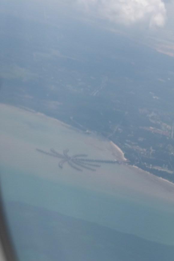 Le port en forme de palmier à l'arrivée sur KL