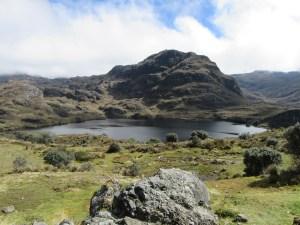 Lagune Toreadora, qui nous accueille à notre arrivée dans le parc Cajas