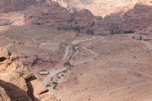 Vue sur le cœur de Petra