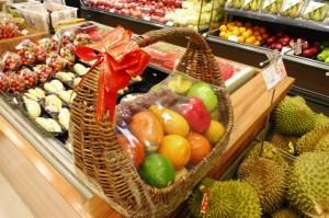 Ici les fruits s'offrent comme des cadeaux pour le Nouvel An