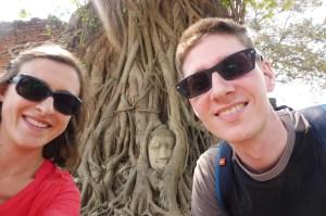 Le Bouddha le plus photographié d'Ayutthaya, prix dans les racines d'una rbre