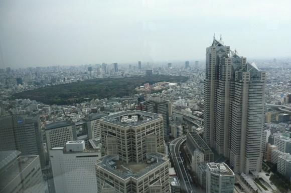 Vue sur Yoyogi Park depuis l'hôtel de ville de Tokyo, dans le quartier de Shinjuku