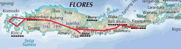 Notre itinéraire à Florès