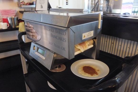 La machine à pancakes, notre coup de cœur du Murray Hotel ;-)