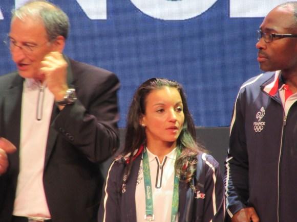 Sarah Ouhramoune, médaillée d'argent en boxe