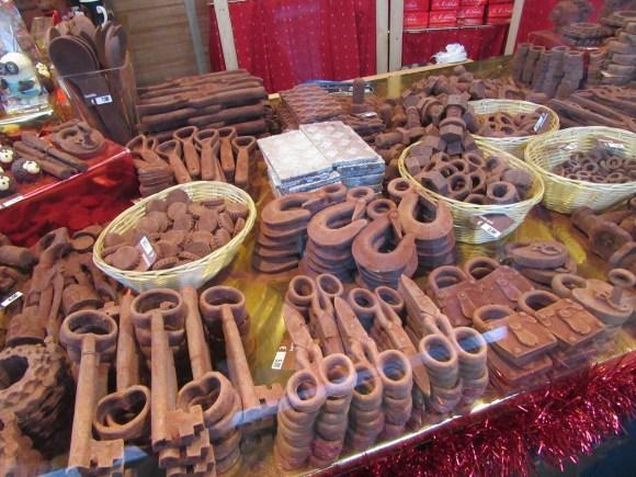 Instruments de bricolage en chocolat