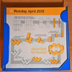Diagram Origami Bracelet Sequence Mvc Daily Calendar Challenge 105 April 15 Smilingbagel 1 The Chain Link Dsc06523