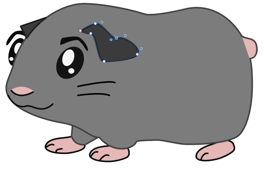 Cute Guinea Pig Vector Art