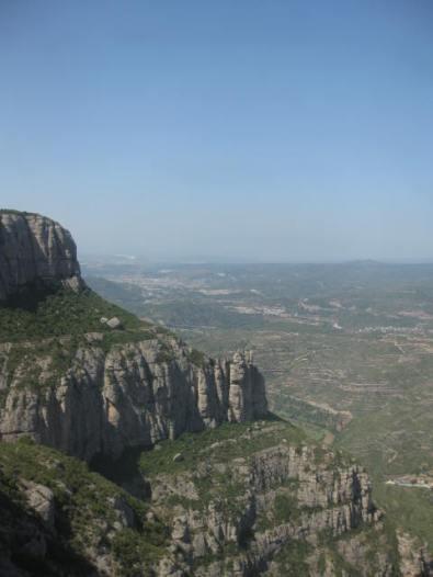 The valley below Montserrat