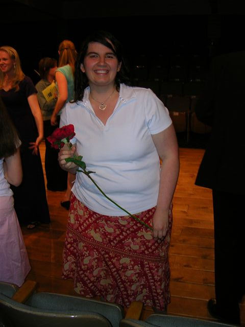 This is at my first recital.  I was so nervous!