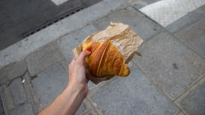 This bad boy (or his eldest brethren) was voted the #2 Croissant in Paris for 2013. 134 RdT.