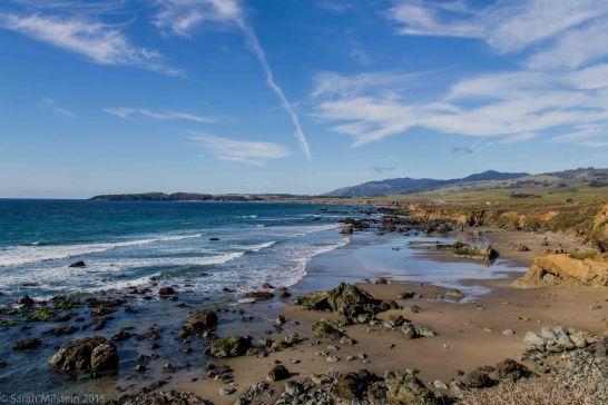 View on Hwy 1 South of San Simeon