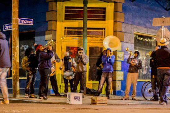Impromptu performance on Frenchmen Street