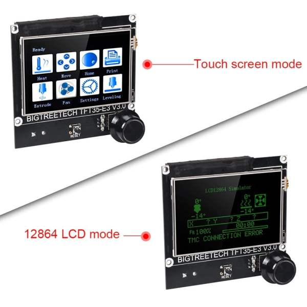 BIGTREETECH TFT35-E3 V3.0 has touch screen mode and LCD mode