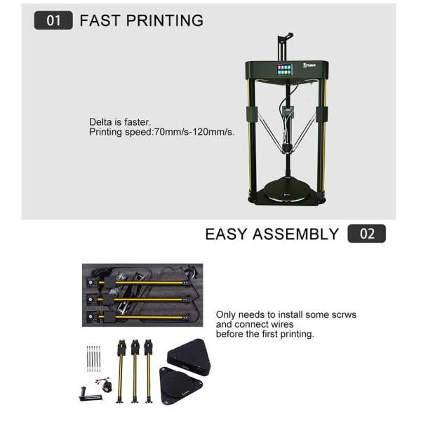 Fast printing and easy assembly feature of Flsun Q5 3D Printer
