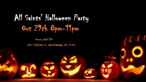 Saints Party Halloween Poster