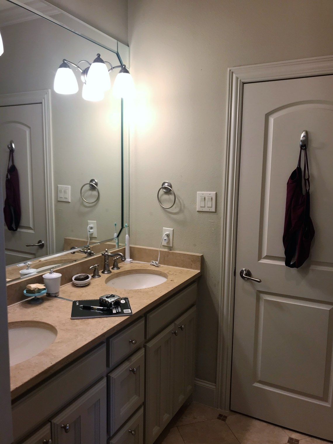 before and after jack and jill bathroom remodel