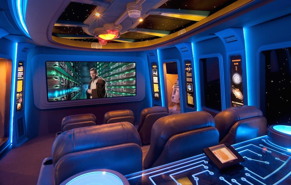 A Custom Star Wars Themed Home Theater  Smith Brothers Construction