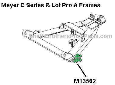 Angle Ram Mounting Clevis for C Series Meyer plow A Frames
