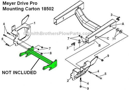 Meyer Drive Pro Mounting Carton 18508 2002 & up Explorer