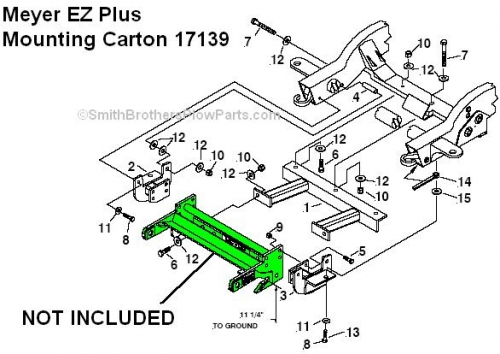 Genuine Meyer EZ Plus Mounting Carton 17139 For 1999