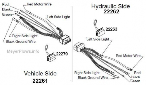 meyer plow pump honeywell s8610u wiring diagram weather plug (truck side) for mdii main harness