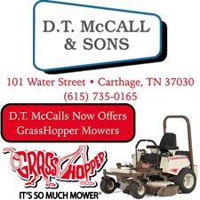 DT McCall Grasshopper Mower Ad
