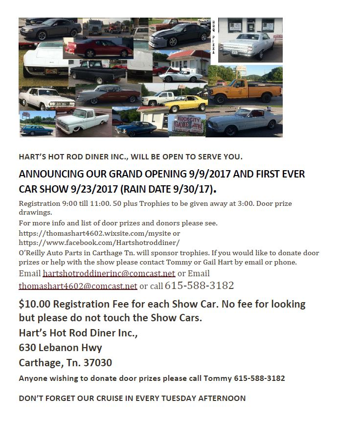 Hart\'s Hot Rod Diner Car Show - Smith County Insider