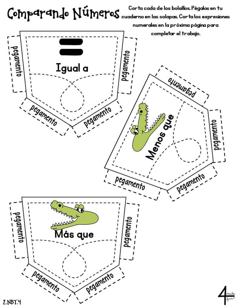 SPANISH Second Grade Math Interactive Notebook Bundle