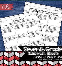 Seventh Grade Math Homework [ 1460 x 1460 Pixel ]