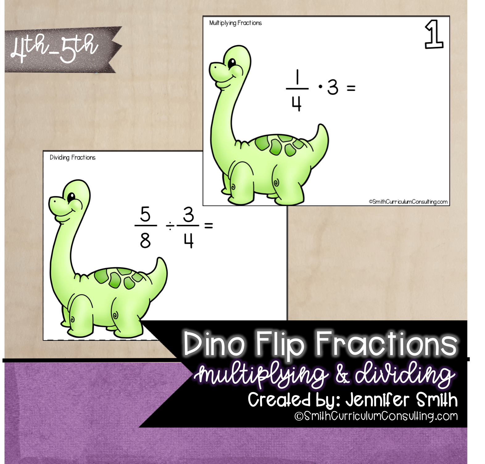 hight resolution of Dino Flip Multiplying and Dividing Fractions Task Cards   TEKS 5.3i • Smith  Curriculum and Consulting
