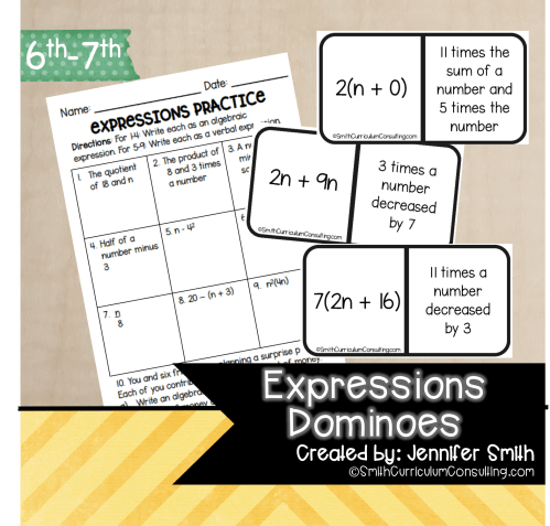 small resolution of Expressions Dominoes   TEKS 6.5   TEKS 7.5 • Smith Curriculum and Consulting
