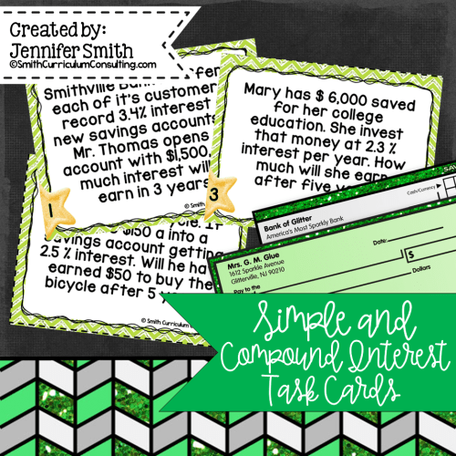 small resolution of Simple and Compound Interest Task Cards   Financial Literacy   TEKS 7.13e    TEKS 8.12d • Smith Curriculum and Consulting
