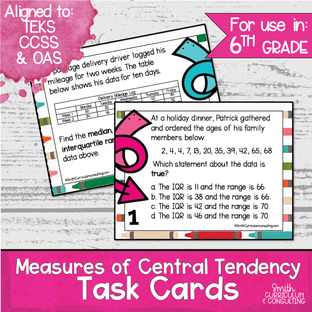 medium resolution of Measures of Central Tendency Task Cards   Mean
