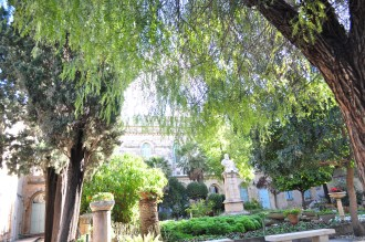 There was a garden right beside the church.