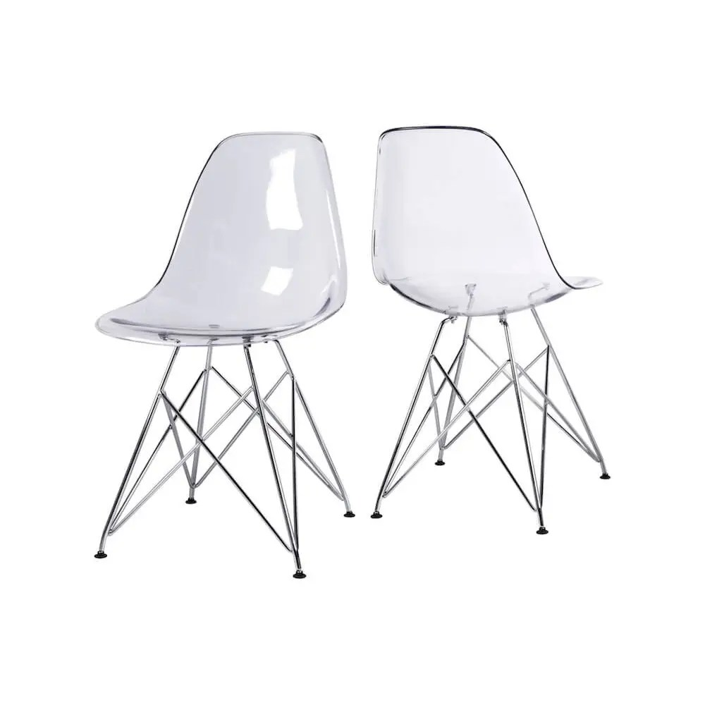 Plastic Clear Chair Ghost Crystal Dining Chair