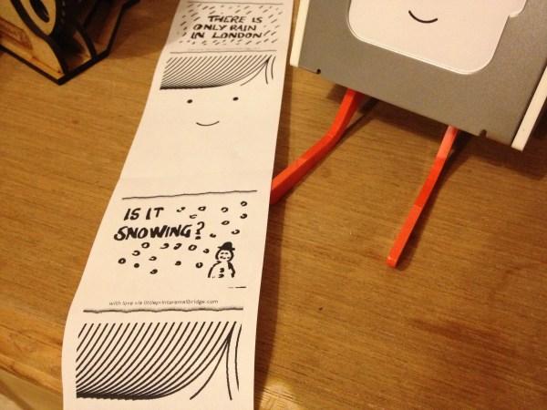Little Printer Love Notes
