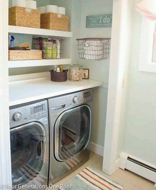 four generations one roof laundry room
