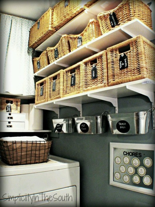 gray laundry room simplicity in the south