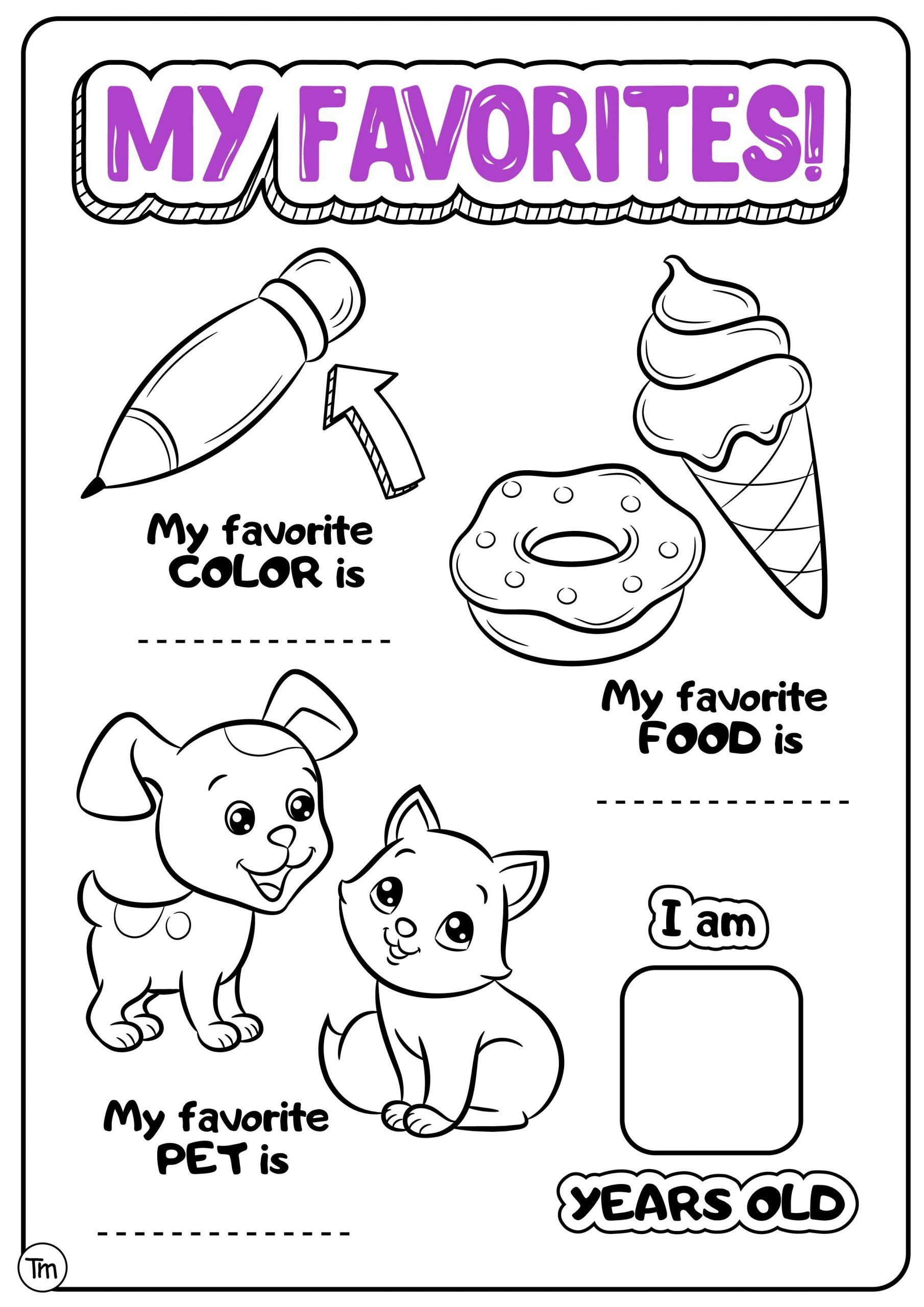 30 All About Me Worksheet Preschool