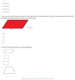 Find Area Parallelogram Worksheets   Printable Worksheets and Activities  for Teachers [ 1698 x 1140 Pixel ]