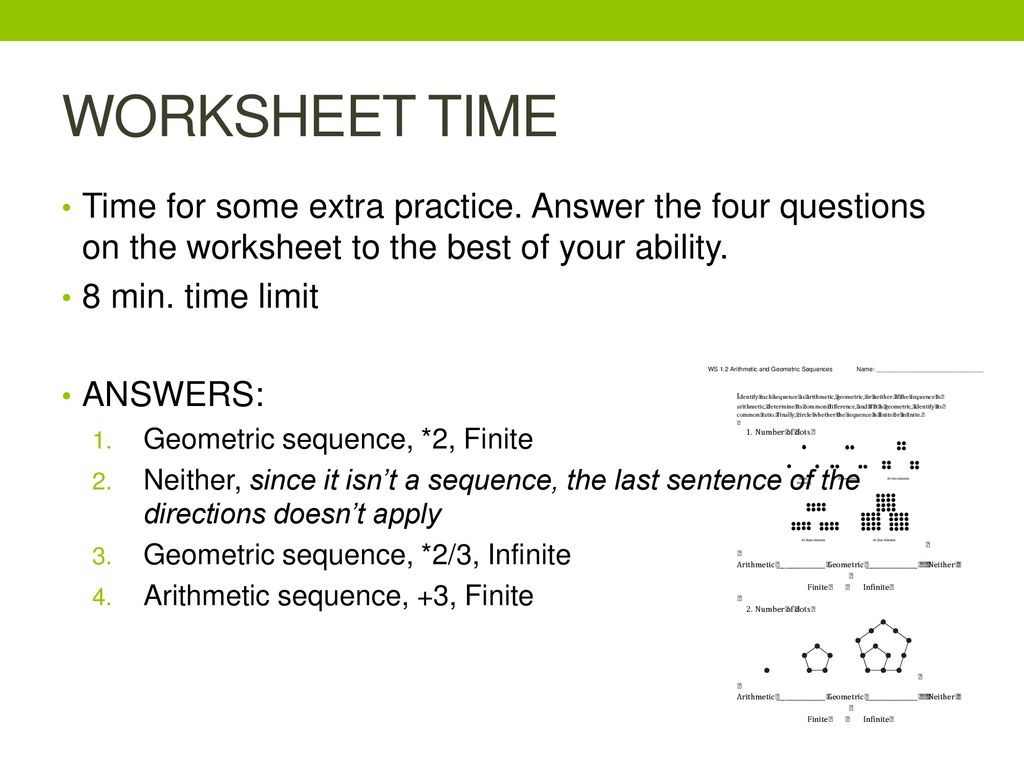 30 Arithmetic Sequences Worksheet Answers