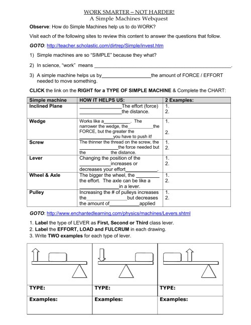 small resolution of Science Machines Worksheets   Printable Worksheets and Activities for  Teachers