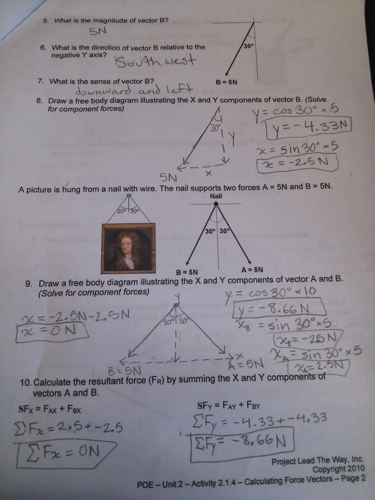 30 Calculating Force Worksheet Answers