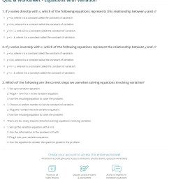Math Direct Variation Worksheet   Printable Worksheets and Activities for  Teachers [ 1395 x 1140 Pixel ]