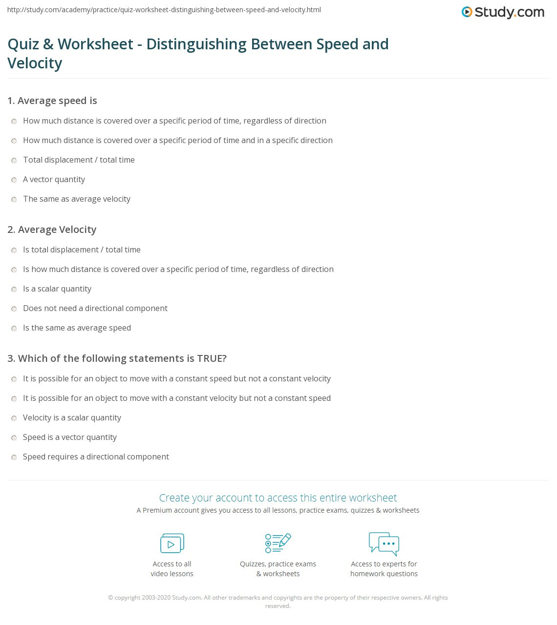 30 Displacement And Velocity Worksheet