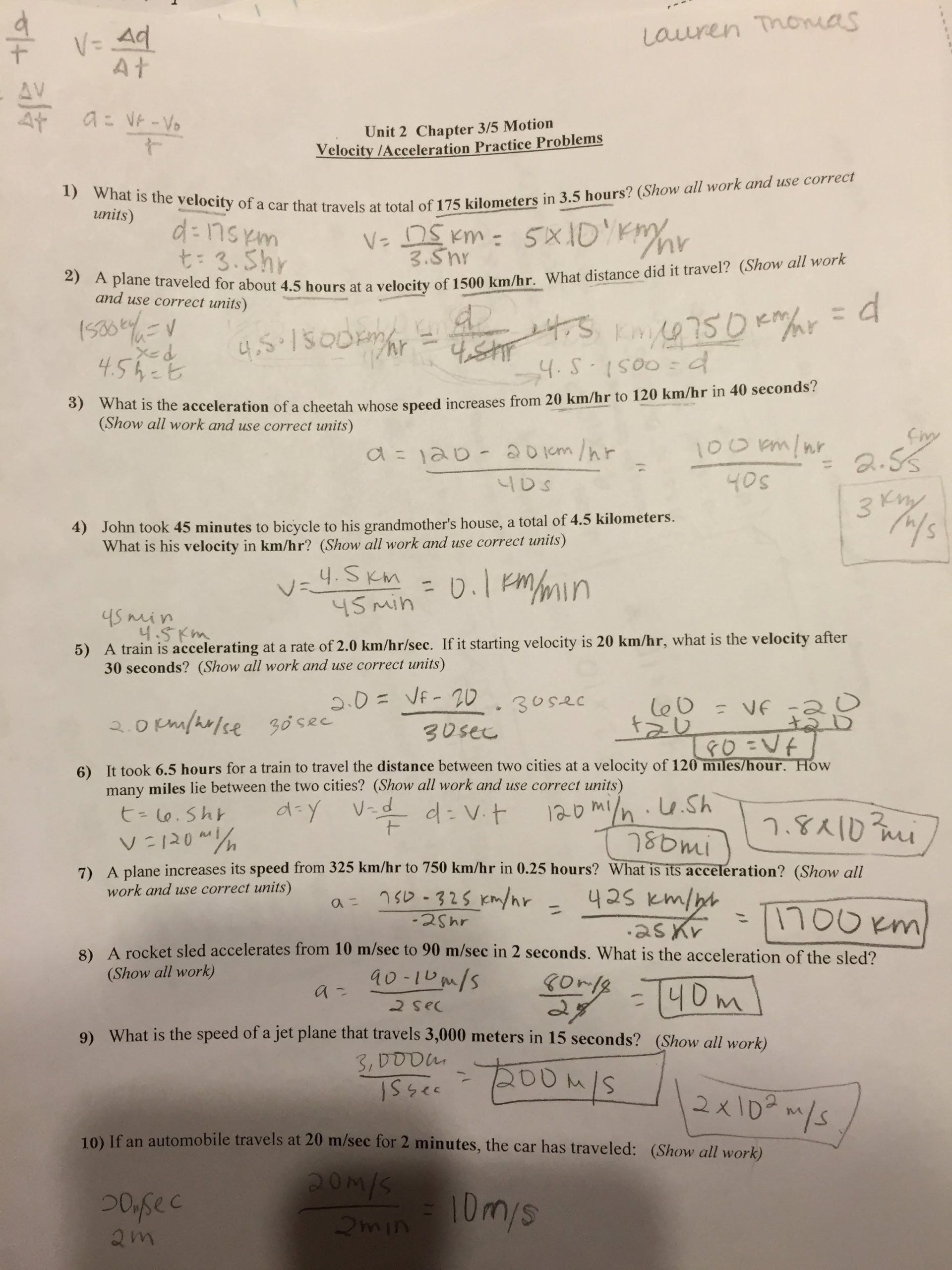 30 Free Fall Worksheet Answers