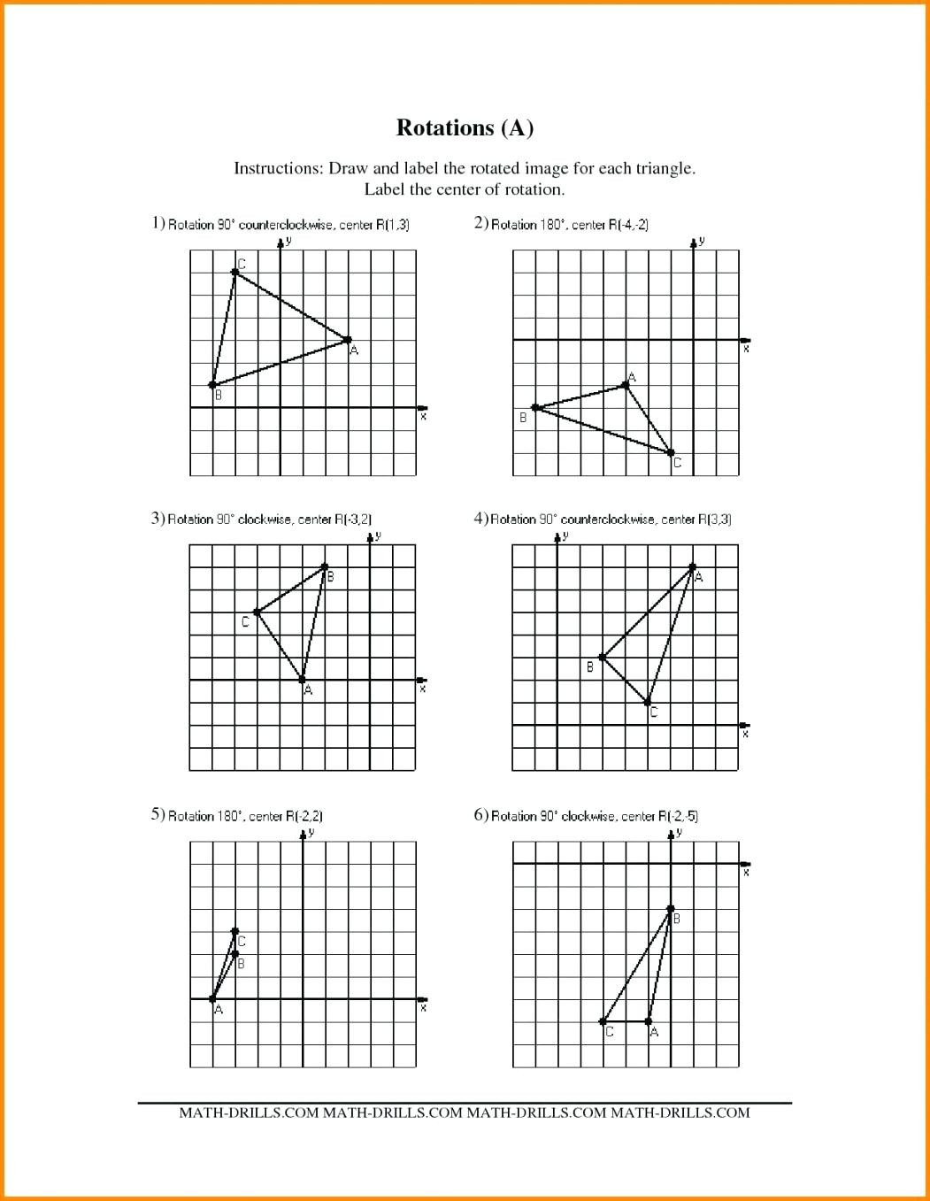 30 Geometry Transformation Composition Worksheet